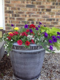 Deck out your entrance with a potted planter.